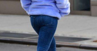 Rihanna blue jeans