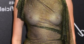 Kendall Jenner Braless See Thru Dress at Chopard Party Cannes