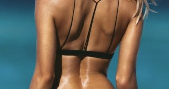 Joy Corrigan Ass - Beach Shoots - Wearing Black