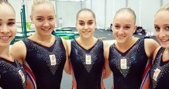 Dutch olympic gymnast team