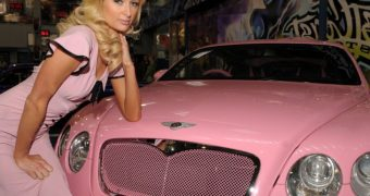 paris hilton pink bentley
