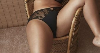 Ashley Graham- Sexy Model Flaunts her curves in her new Lingerie