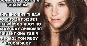 Blowjob Story by Evangeline Lilly