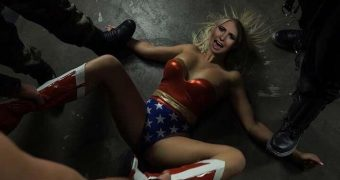 celeb tomi lahren as superheroine wonder woman fakes femdom