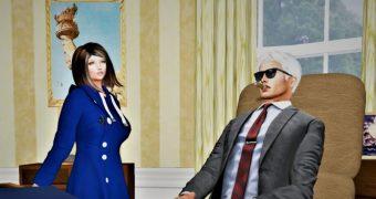 Bill and Monica portrayed my Misty
