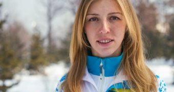 Nude biathlete Elena Khrustaleva