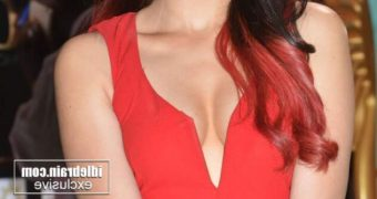 Adah Sharma- Hot Indian Bollywood Celeb Poses in Sexy Red Outfit