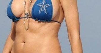 Rita Rusic in Bikini at a Beach in Miami