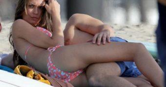 Odette Annable in Bikini on the Set of Westside in Los Angeles
