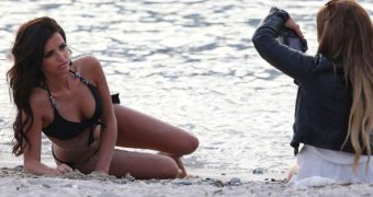 Lucy Mecklenburgh Photoshoot Candids in Nice