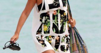 Rachel Bilson Bikini Candids in Barbados