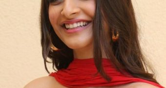 Sonam Kapoor in Red Hot Outfit at The Zoya Factor Trailer Launch