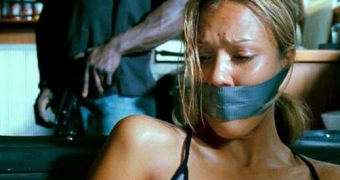 Jessica Alba gagged bound ready for shipment