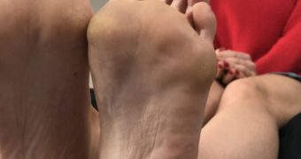 Gabrielle Taylor LOVES to show off her feet