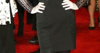 Lesley Joseph - Old UK Jew Bag Actress in Pantyhose