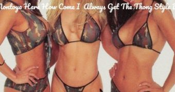 Kacey Montoya How Come I Always Get Thong Style Bikini