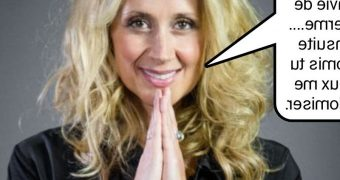 French caption (Fran�ais) Lara Fabian, cougar anale.