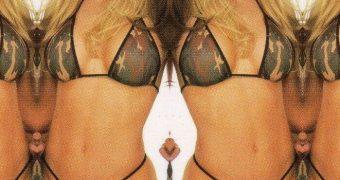 Kacey Montoya KTLA News Thong Bikini Jerk Challenge
