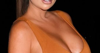 Lauren Goodger - Busty British Babe with Curvy Bum in White Suit