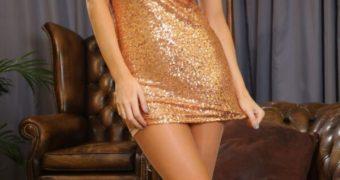 Emma Glover - Gold Dress