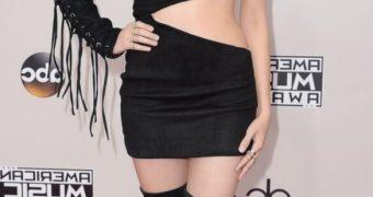 Laura Marano sexy in mini black dress