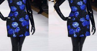 Naomi Scott in Latex Outfit