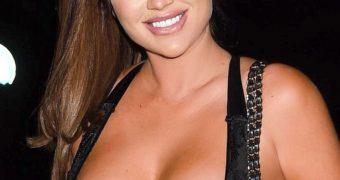 Lauren Goodger- Busty British Babe flaunts Big Tits in Hot Dress