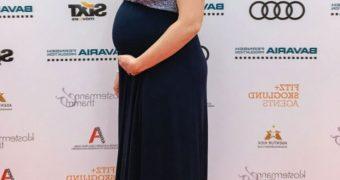 Stefanie von Poser german actress pregnant