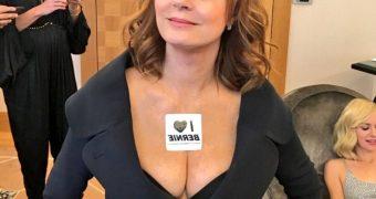 Hot big tits mature Susan