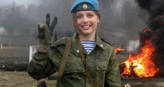 This Russian Soldier Girl
