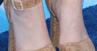 Joey King in heels
