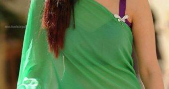 Tamannaah Bhatia- Glamorous Indian Bollywood Diva in Green Saree
