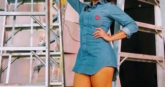 vestido mezclilla azul