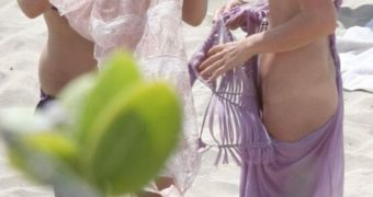 Laeticia Hallyday Topless / Nude at a Photoshoot in St. Barts