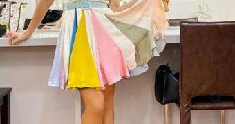falda de colores
