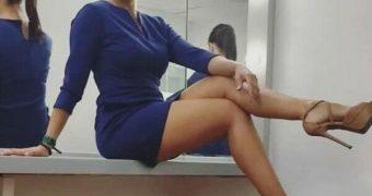 vestido azulrey