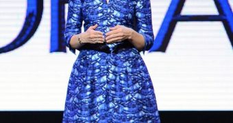 Marissa Mayer Ex-Yahoo CEO in Black Pantyhose