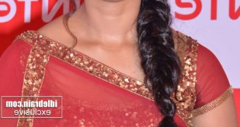 Anushka Shetty- Beautiful Indian Telugu Celeb Poses in Red Saree