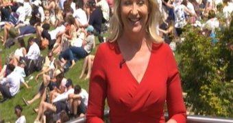 Carol Kirkwood at Wimbledon