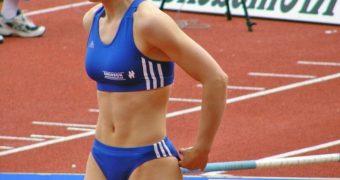 German Pole Vaulter Silke Spiegelburg