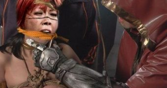 wwe asuka as wonderwoman superlady bondage femdom helpless