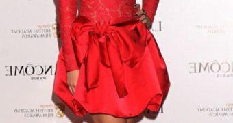 Emma Watson sexy red dress