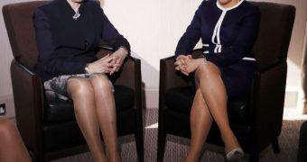 Strumpfhosen Politikerinnen