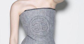 Emma Watson Grey tube top