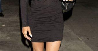 Carmen Electra see through dress