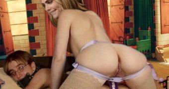 Cara Delevingne, Femdom BDSM strapon pegging bondage spanking